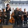 """""""Sommerbühne"""" am 07.07.2015 in der Arena des Panometer Leipzig - MDR Sinfonieorchester  Foto Tom Schulze tel.    0049-172-7997706 mail  post@tom-schulze.com web  www.tom-schulze.com  Nutzung des Bildes nur gegen Honorar/Beleg/Namensnennung"""